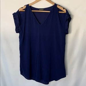 Express short sleeved cold shoulder top womens M